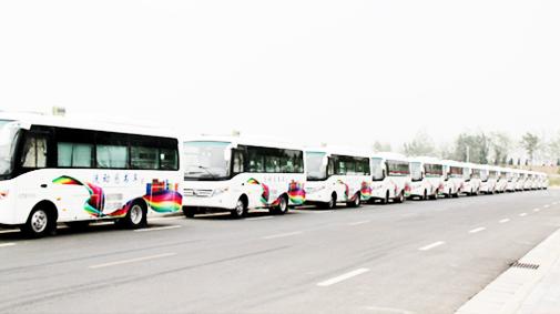 宇通专用车66台流动图书车交付全国多地客户使用